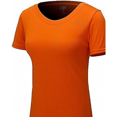 maoko para mujer de manga corta camiseta de poliéster, Running Camisetas Para Niña