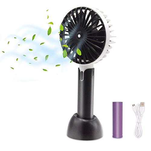 HOTLIFE Mini Ventilator Handventilator Tragbarer Mini USB Lüfter mit 18650 mAh Aufladbarem Batterie Beweglicher 3 einstellbare Geschwindigkeiten Personal Fan für Indoor und Outdoor Aktivitäten-Schwarz