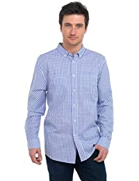 Tom Franks Gingham Check Long Sleeved Shirt with Pockets