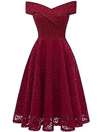 Laorchid Women's Lace Princess Dress Swing Cocktail Evening Knee Length