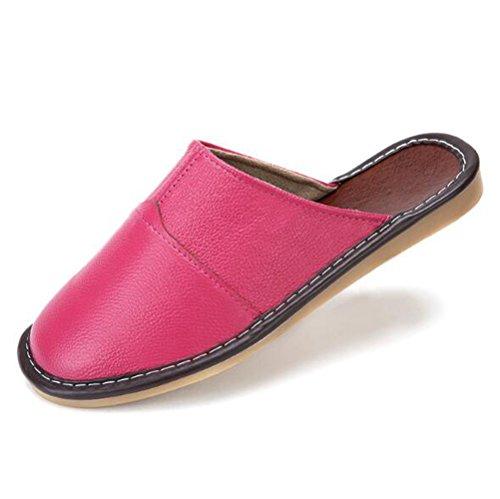 Nanxson(TM) Pantoufle Chausson En Cuir Multi-couleurs Pour Adultes Unisexes TX0008 Rose