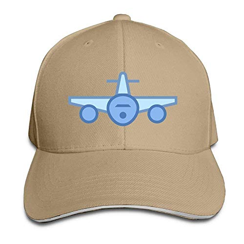 Preisvergleich Produktbild WBinHua Hüte Airplane Front View Icon Adult Adjustable Snapback Hats Peaked Cap Unisex