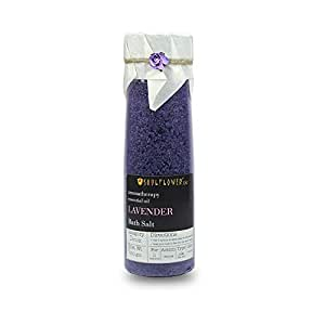 Soulflower Lavender Bath Salt, For Rejuvenation, Relaxation and Pain Relief, relaxes and Soothes mind and Body, for Men and Women, 500 gms