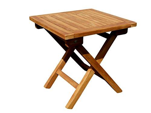 ASS Teak Klapptisch Holztisch Gartentisch Garten Tisch Beistelltisch 45x45cm Holz Picnic v