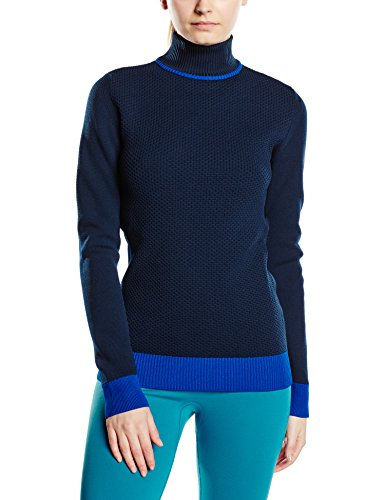 FALKE Damen Skipullover Zip Pullover Women, Dark Night, S, 36471