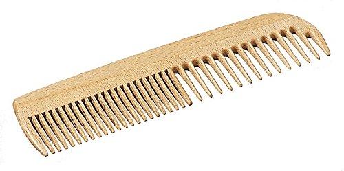 Peigne pour hommes - peigne de coiffure de haute qualité pour hommes en bois de hêtre certifié avec dents grossières et fines, idéal pour les voyages, longueur env. 170 mm, Made in Germany