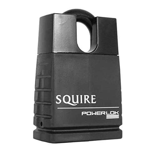Squire POL55CS 55mm Powerlok Solid Steel Closed Shackle Padlock with 2-Keys