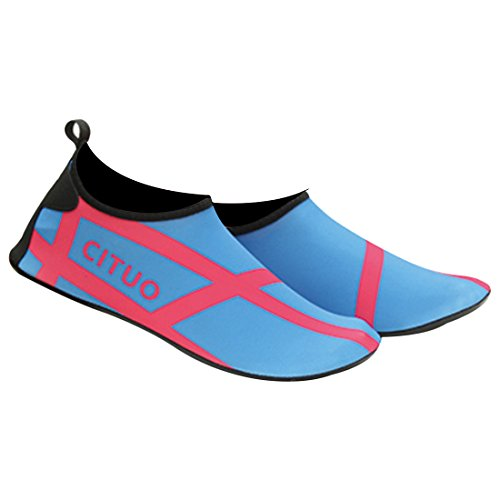 Unissex Sapatos Flutuante Aqua Crianças Partiss Sapatos De Secagem Senhoras De Homens Deslizamento Respirável Navegar Sapatos 3 Para Azuis Sapatos De Na Rápida Praia w5fHqZ7f