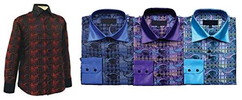 Sunrise Outlet - Chemise habillée - Avec boutons - Manches Longues - Homme Vert - Bleu-vert