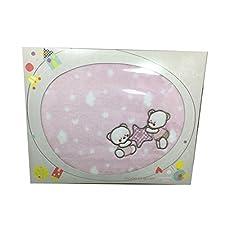 pirulos 85222204–Decke Mikrofaser, Mini, 80x 110, Bär Stern, Farbe rosa