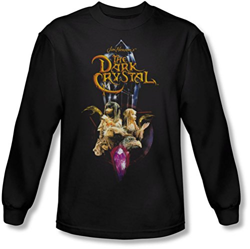 Dark Crystal - Herren Crystal Quest Langarm-Shirt In Black Black