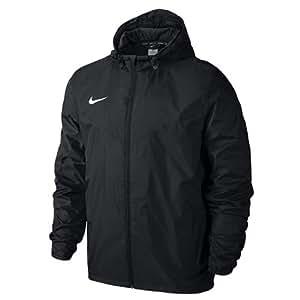 Nike TEAM SIDELINE RAIN JACKET, Giacca Sportiva Uomo, Nero/Bianco, S
