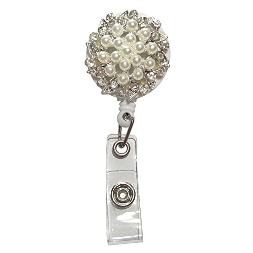ayhu Büro Retractable Badge Reel Krankenschwester Name ID Badge Holder mit 360 ° schwenkbar Alligator Clip Stil Nr. 4