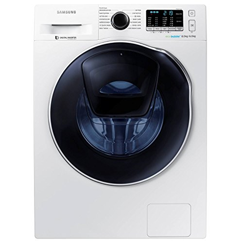 41JrvS4b2EL - BEST BUY #1 Samsung AddWash WD80K5410OW/EU A Rated 1400 Spin 8kg+6kg Washer Dryer in White Reviews and price compare uk