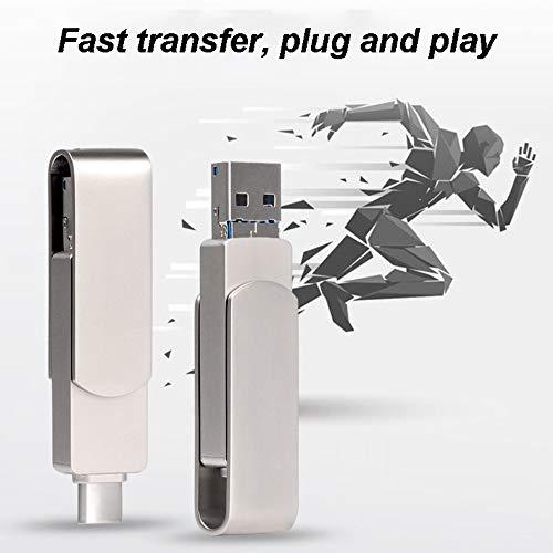 WANGOFUN Flash-Laufwerk, Photo Sticks zum einfachen Verschieben von Bildern und Videos auf Mehreren Geräten, mit externem Speicher kompatible U-Disk für iPhone/Android/Windows,128G -