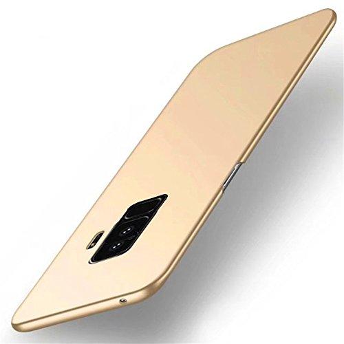 Samsung Galaxy S9 Plus Hülle,Ultra Dünn PC Handy Schutzhülle Schale Stoßfest Galaxy S9 Handyhülle Schutz Tasche Schale Schutzhülle für Samsung Galaxy S9/S9 Plus (Samsung Galaxy S9, Gold)