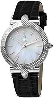 Just Cavalli Animalier Women's Mother of Pearl Dial Leather Analog Watch - JC1L105L