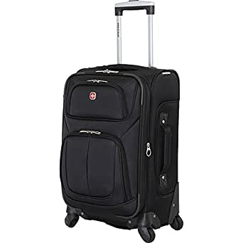 Swiss Gear Polyester 26.04 cms Black Softsided Cabin Luggage (6283202161)