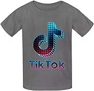 TIK-Tok - Camiseta de manga corta con estampado gráfico para niñas y niños, de 9 a 18 años