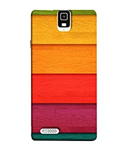 PrintVisa Designer Back Case Cover for Infocus M330 (multi colored thick sticks base)