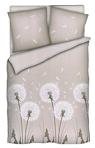 BRANDSSELLER Baumwoll-Satin Bettwäsche Bettbezug Garnitur Set