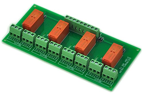 Electronics-Salon Passive bi-verrouillable 4 DPDT 8 A Module de relais de puissance, 24 Version RT424F24 V
