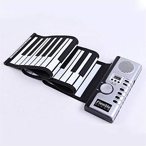 AETOPPAETOPP Keyboard Piano Plegable 61 Teclas Teclado Piano Niños Aprendizaje 61 Teclas Flexible Soft Electronic Digital Midi Keyboard Piano (61 teclas)