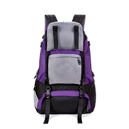CHT Männer Im Freien Bergsteigen Tasche Mit Großer Kapazität Reiserucksack 40L 53 * 37 * 15cm Farbe Optional Purple