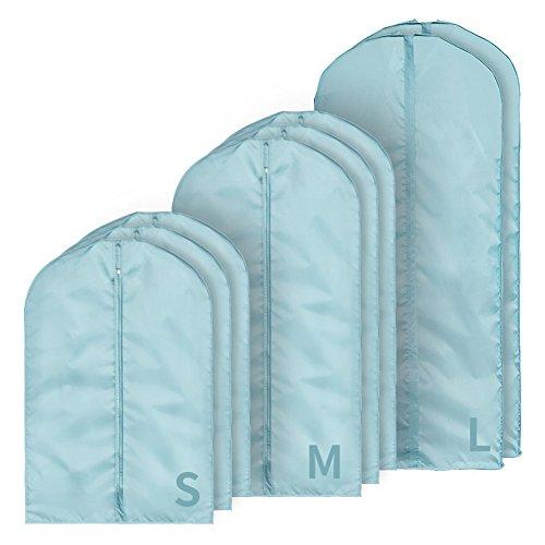 QFFL Sac de compression sous vide Bleu Vêtements créatifs Housse de protection / Manteau Housse de vêtements étanche à l'humidité / Vêtements Trier Sac de rangement (Un pack de 8) Sac de protection