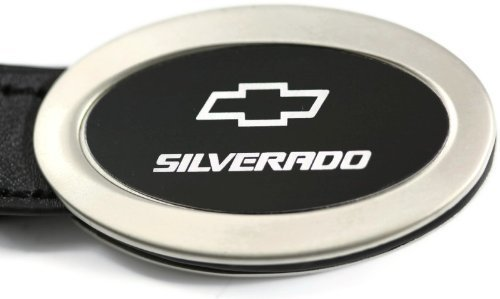 chevy-chevrolet-silverado-black-oval-leather-key-fob-authentic-logo-key-chain-key-ring-keychain-lany