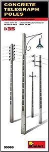 Unbekannt Mini Tipo 35563-Accesorios de construcción Concrete Telegraph Poles