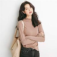 ZYZHjy Mujeres Camiseta De Manga Larga De Punto,Khaki,Código Uniforme