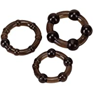 Linx Easy Squeeze Cock Ring Set, Black