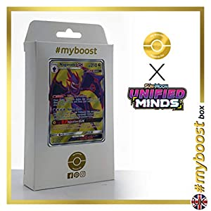 Nagadel-GX 230/236 Full Art - #myboost X Sun & Moon 11 Unified Minds - Box de 10 cartas Pokémon Inglesas