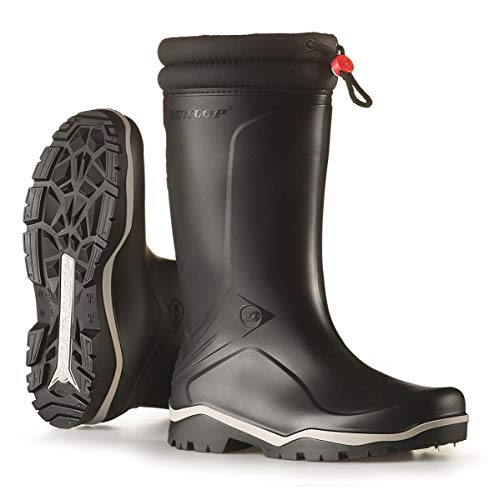 Unisex Dunlop Fleece Lined Insulated To -15c Winter Wellington Boots - These fit both men and women perfectly. The affordable boots are created of synthetic rubber with a fleece lining and therefore, they are guaranteed to keep you warm. The block heel wellington boots are insulated against temperatures as low as -15 degrees Celsius. They come with a padded collar and a drawstring so you can be sure that they will fit as they should. They are affordable and they offer good value for money, they are available in green, black or blue so there is some choice available.