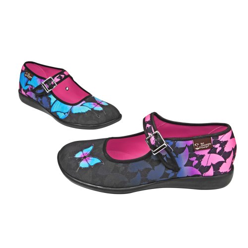 Hot Chocolate Design Chocolaticas Dark Butterfly Damen Mary Jane Halbschuhe Mehrfarbig