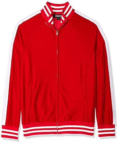 Blizzard Bay Herren Velour Sequin Santa Track Jacket Sweatshirt, rot/weiß, XX-Large Velour Warm Up