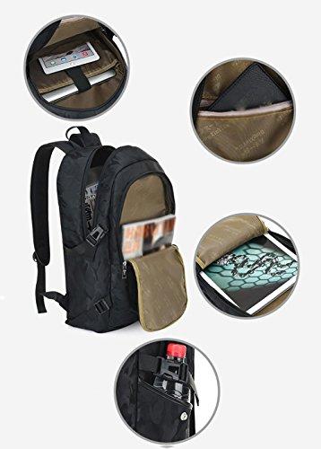 Rucksack Camouflage Stil Tourismus Mode USB Multifunktions Freizeit Outdoor Rucksack black