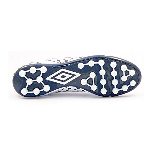 Umbro Umbro Extremis 4 AG – Bota per uomo, colore: bianco/Vermillion/Dark Navy Blanco / Vermillion / Dark Navy