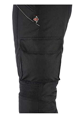 All Black CE Armoured Waterproof Motorcycle / Motorbike Trousers – Huge Size Range Available