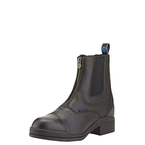 ARIAT Damen Stiefelette Heritage II Zip Steel Toe Cap (mit Reißverschluß vorne), schwarz, 5 (38) (Steel Toe Schuhe Frauen)