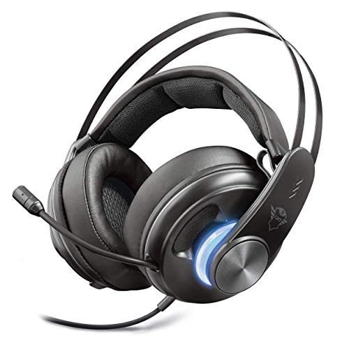 Trust gaming gxt 383 dion cuffie surround 7.1, nero