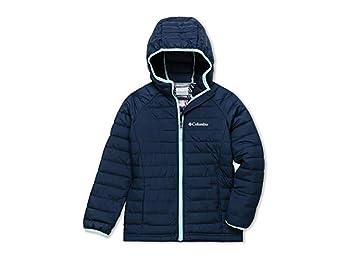 Columbia Girls' Hooded Jacket, Powder Lite, Nocturnal, 2T