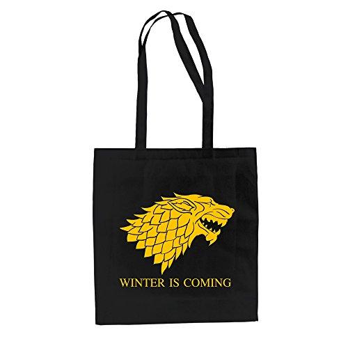 Baumwolltasche Jutebeutel Game of Thrones Tasche Schattenwolf Dire Wolf Schwarz-Rot