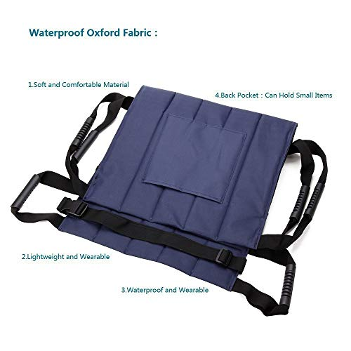 Älterer Patientenlift-Treppen-Gleitbrett-Transfer-Notevakuierungs-Stuhl-Rollstuhl-Gurt-Sicherheits-Ganzkörper-medizinischer anhebender Riemen, der übertragende Scheibe für Transferposition verwendet