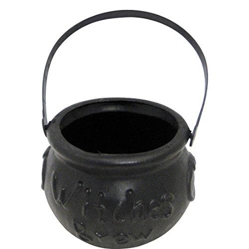 ssel Halloween Topf Braukessel Hexe Witch Cauldron Hexenkostüm Accessoire Karnevalskostüme Zubehör (Halloween Hexenkessel-spiel)