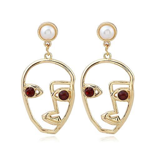 MNGGNM Mode personalisierte Spaß übertrieben Tropfen Ohrringe Metall hohlen Ohrfeige Palm weibliche Brincos Frauen Partei Schmuck Geschenk