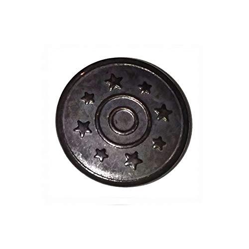 Trimmen Shop 17mm Gunmetal Jeans Tasten 8Sterne mit Pins Ersatz Druckknöpfe für Jacken, Kleidung, Hosen, Nähen Stricken Handarbeiten, Verzierungen, strapazierfähig und robust, Metall, 8 (Plus Größe Nähen Kleid Form)