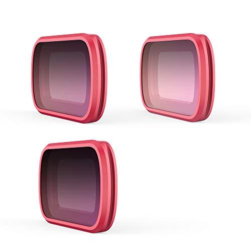 KPILP DJI Zubehör 3PC, Professionelle ND8- / PLND8-GR-ND16-4-ND32-8-Kameraobjektivfilter für DJI OSMO-Tasche, Professioneller tragbarer Kamerafilter, Objektiv
