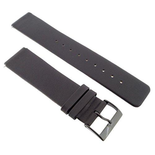Skagen Uhrband Wechselarmband LB-233XLCLB Original Ersatzband 233XLCLB Uhrenarmband Leder 20 mm Schw
